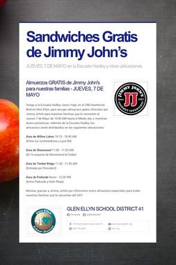 Sandwiches Gratis de Jimmy John's