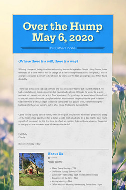 Over the Hump  May 6, 2020