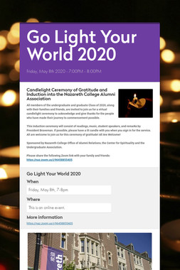 Go Light Your World 2020