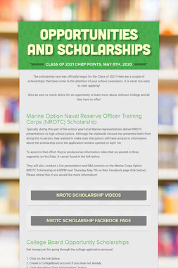 Opportunities and Scholarships