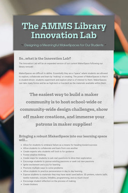 The AMMS Library Innovation Lab