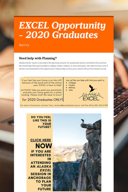 EXCEL Opportunity - 2020 Graduates