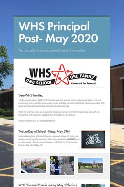 WHS Principal Post- May 2020
