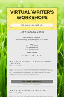 Virtual Writer's Workshops