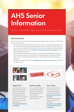AHS Senior Information