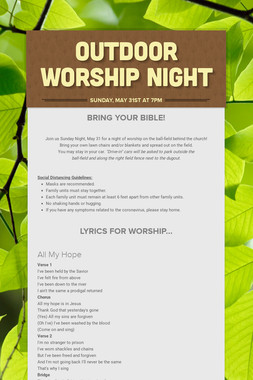Outdoor Worship Night