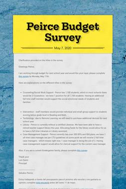Peirce Budget Survey