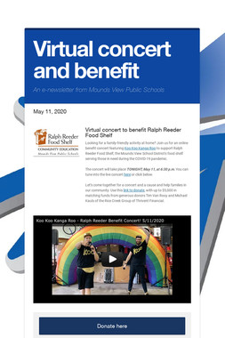 Virtual concert and benefit