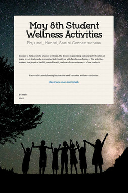 May 8th Student Wellness Activities