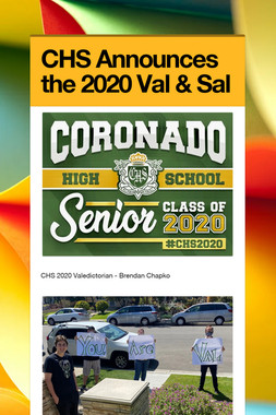 CHS Announces the 2020 Val & Sal