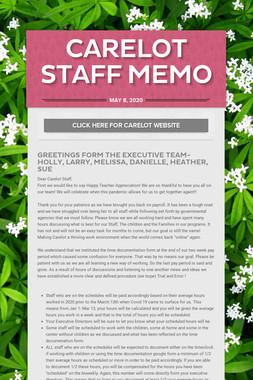 Carelot Staff Memo