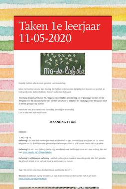 Taken 1e leerjaar 11-05-2020