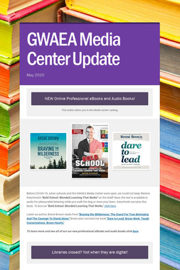 GWAEA Media Center Update
