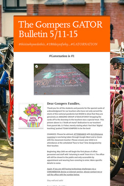 The Gompers GATOR Bulletin 5/11-15