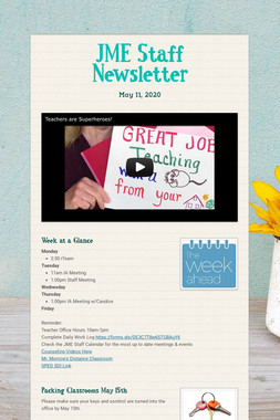 JME Staff Newsletter