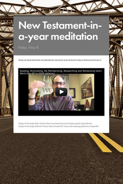 New Testament-in-a-year meditation