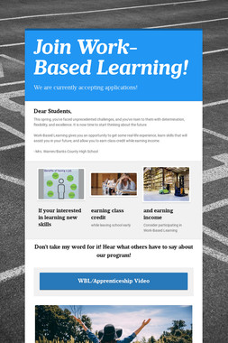 Join Work-Based Learning!