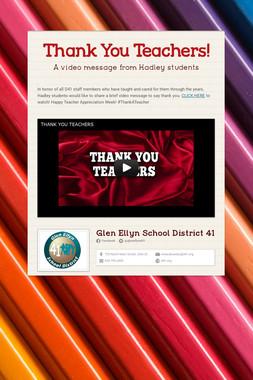 Thank You Teachers!