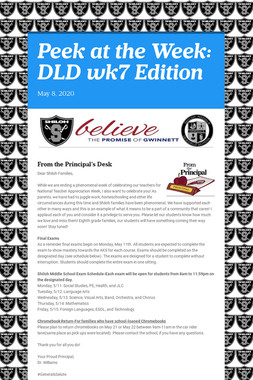 Peek at the Week: DLD wk7 Edition