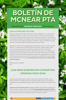 Boletín de McNear PTA