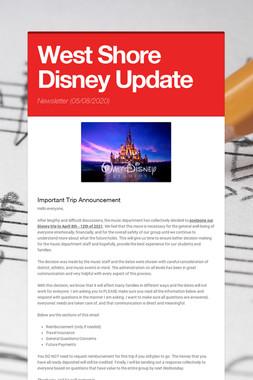 West Shore Disney Update