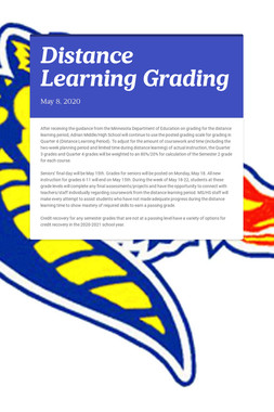 Distance Learning Grading