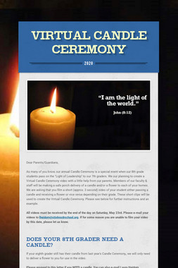Virtual Candle Ceremony