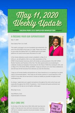 May 11, 2020    Weekly Update