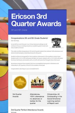 Ericson 3rd Quarter Awards