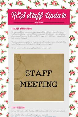 RES Staff Update