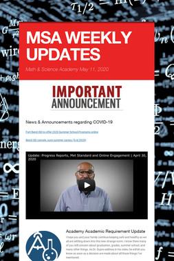 MSA WEEKLY UPDATES