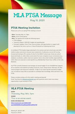 MLA PTSA Message