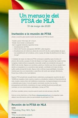 Un mensaje del PTSA de MLA