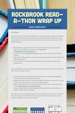 Rockbrook Read-A-Thon Wrap Up