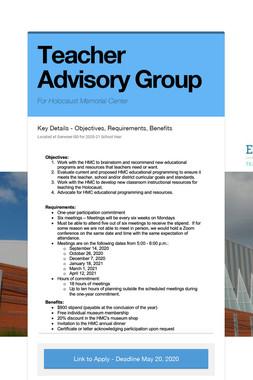 Teacher Advisory Group
