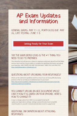AP Exam Updates and Information