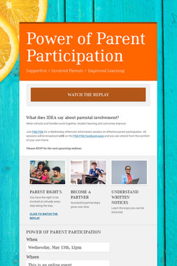 Power of Parent Participation