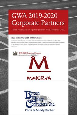 GWA 2019-2020 Corporate Partners