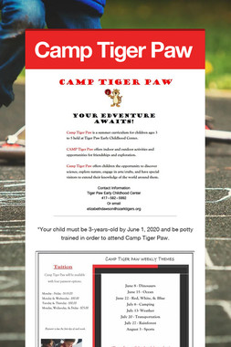 Camp Tiger Paw