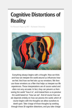 Cognitive Distortions of Reality