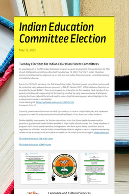 Indian Education Committee Election