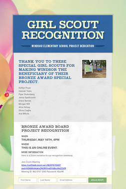 Girl Scout Recognition