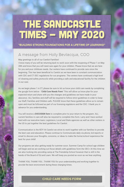 The Sandcastle Times - May 2020