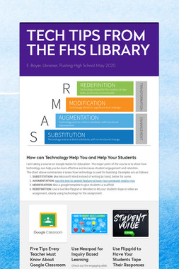 TECH TIPS FROM THE FHS LIBRARY