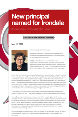 New principal named for Irondale