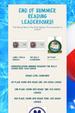ONLINE SUMMER READING LEADERBOARD!