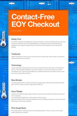 Contact-Free EOY Checkout
