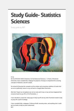 Study Guide- Statistics Sciences