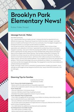 Brooklyn Park Elementary News!
