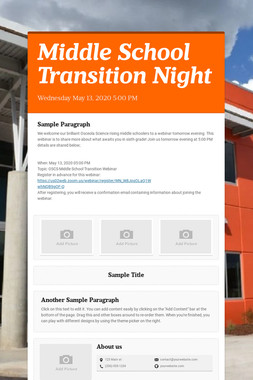 Middle School Transition Night